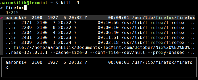 Auto Completion for Kill Command
