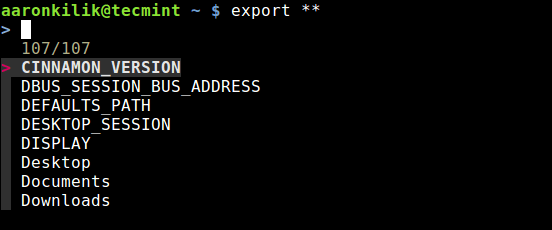Auto Completing Env Variable in Linux