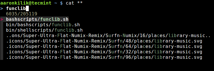 Auto Completion of Filenames