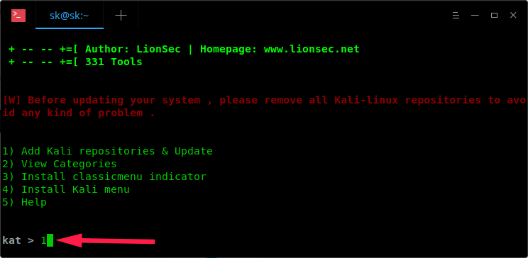 Add Kali Repositories