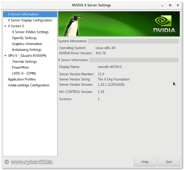 Running nvidia-settings on CentOS 7