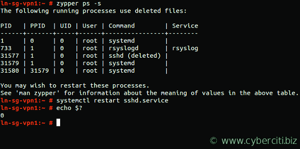 Restart outdated OpenSUSE Linux process
