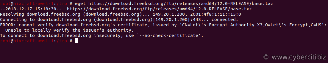 FreeBSD wget can not confirm certificates, issued by Let's Encrypt