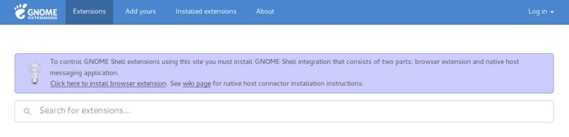 Installing GNOME Shell Extensions