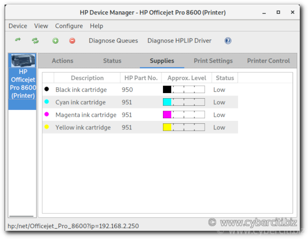 How to install HP printer on Fedora Linux and get ink levels