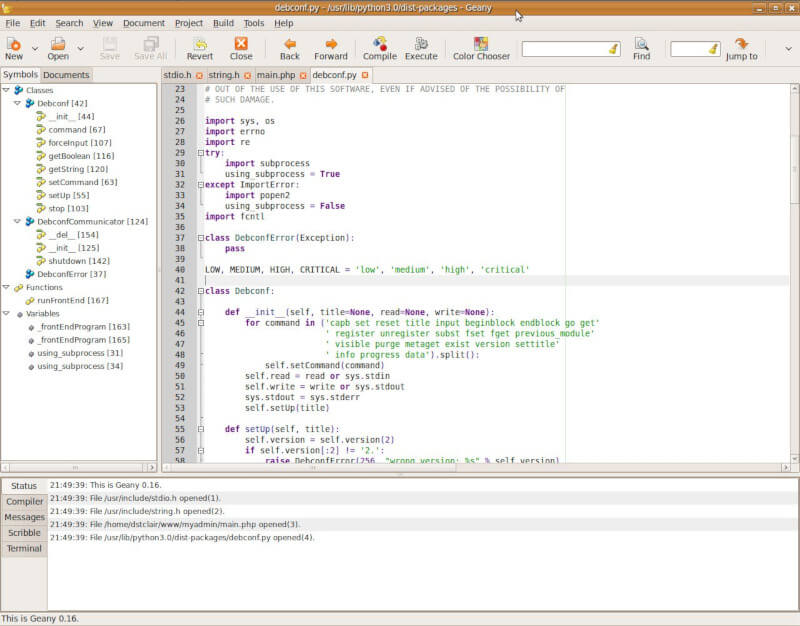 Geany - Text Editor