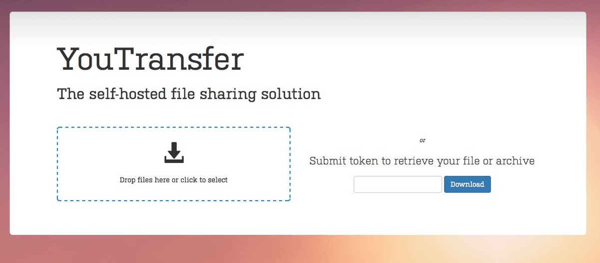 YouTransfer - file-sharing solution