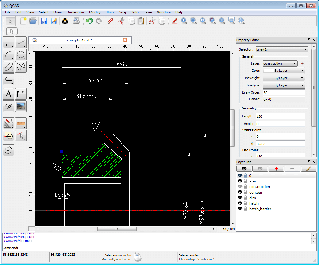 QCAD - A 2D Design and Drafting Software