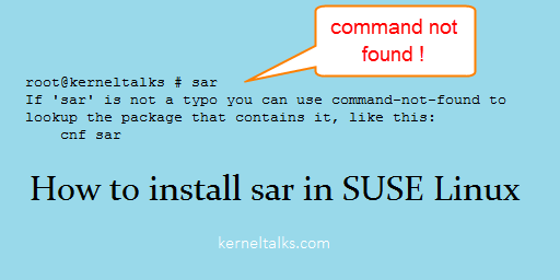 Install sar in SUSE