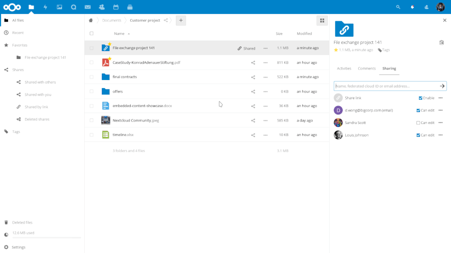 Nextcloud - self-hosted file share and communication platform