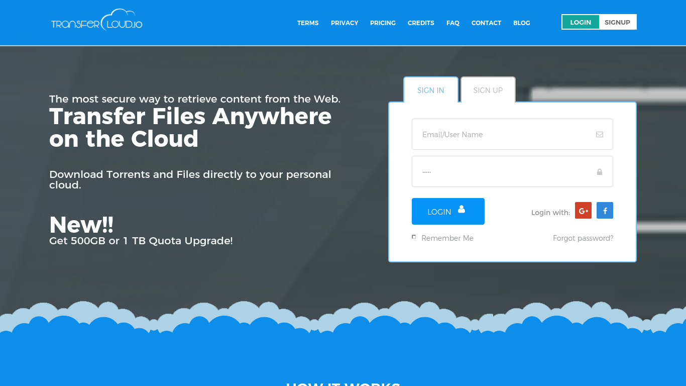 TransferCloud - Direct Torrent Download to Cloud Storage