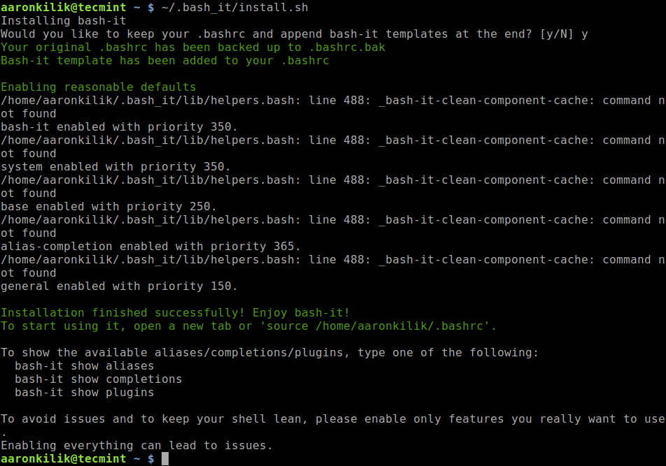 Install Bash-It in Linux
