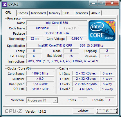 CPU-Z- Gives Information About PC