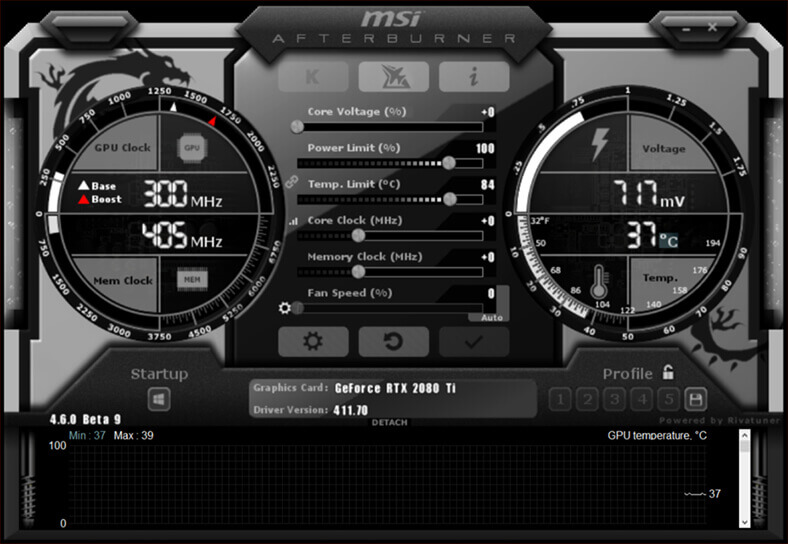 MSI Afterburner - overclocking utility for MSI graphics cards