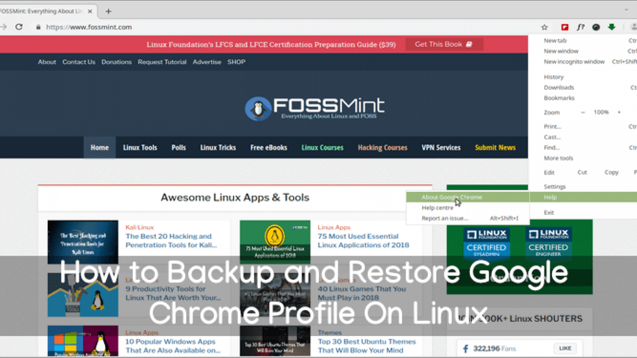 The way to Backup and Restore Google Chrome Profile On Linux